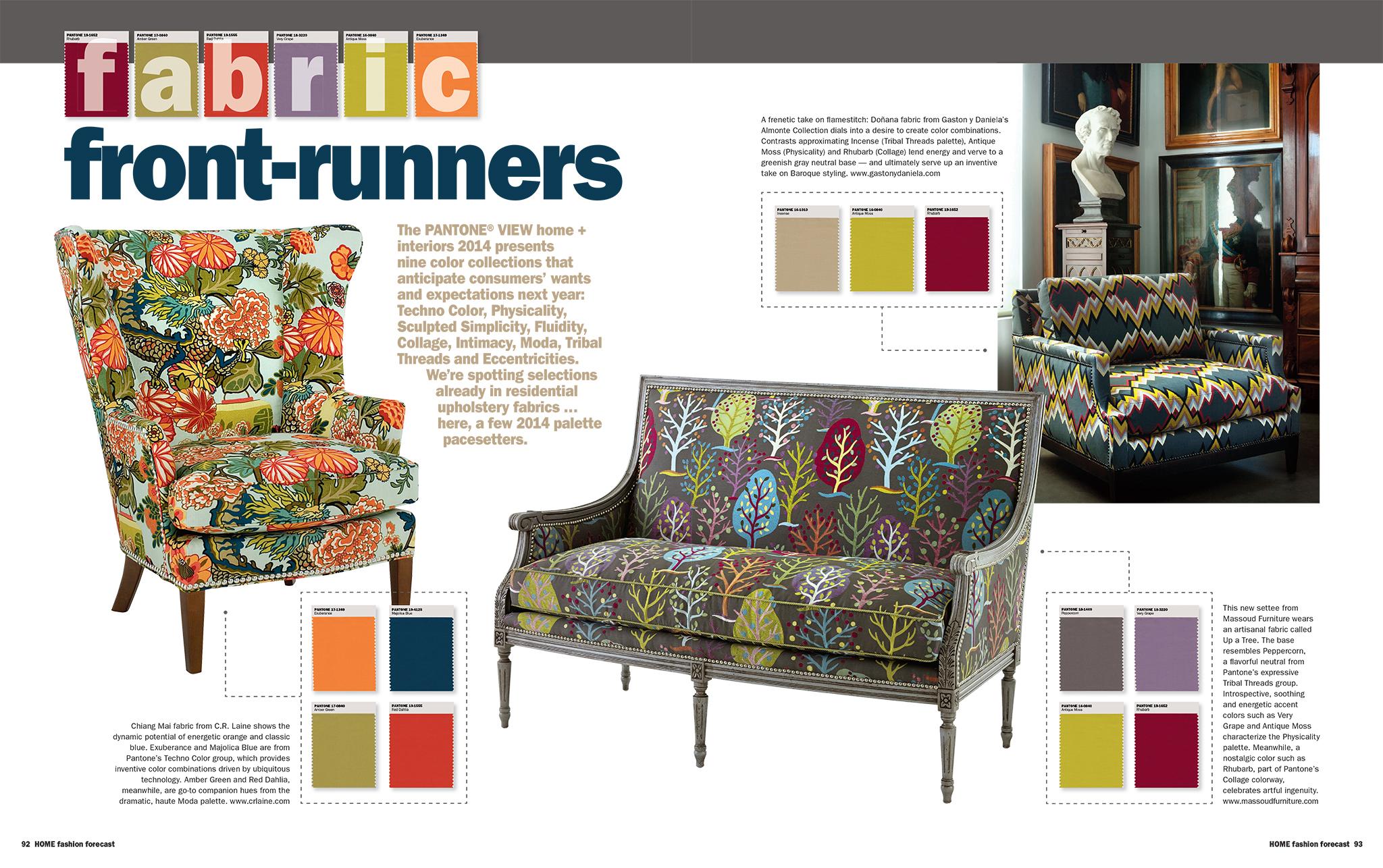 Home fashion forecast massoud furniture for Home fashion